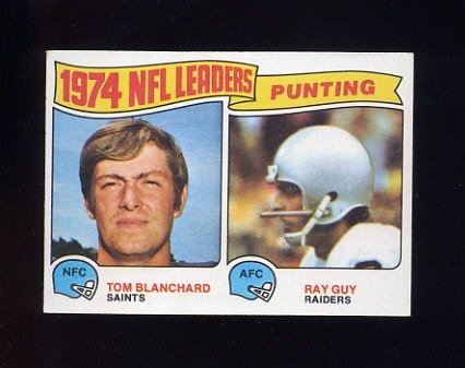 1975 Topps Football #6 Punting Leaders Tom Blanchard / Ray Guy