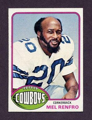 1976 Topps Football #368 Mel Renfro - Dallas Cowboys