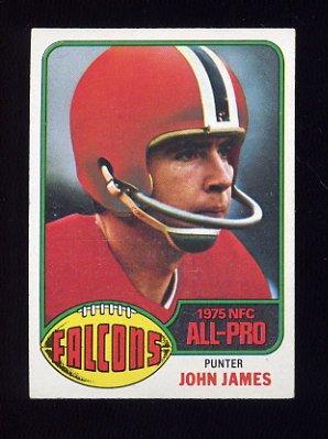 1976 Topps Football #240 John James - Atlanta Falcons