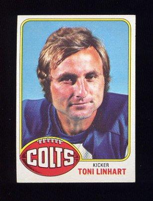 1976 Topps Football #209 Toni Linhart - Baltimore Colts