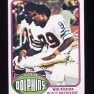 1976 Topps Football #054 Nat Moore RC - Miami Dolphins NM-M