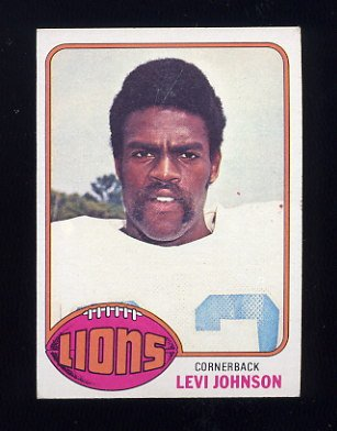 1976 Topps Football #433 Levi Johnson - Detroit Lions