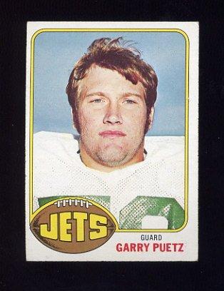 1976 Topps Football #356 Garry Puetz - New York Jets