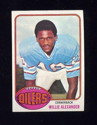 1976 Topps Football #316 Willie Alexander - Houston Oilers