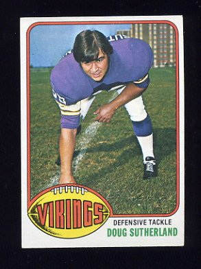 1976 Topps Football #291 Doug Sutherland RC - Minnesota Vikings