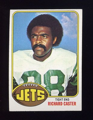 1976 Topps Football #244 Richard Caster - New York Jets