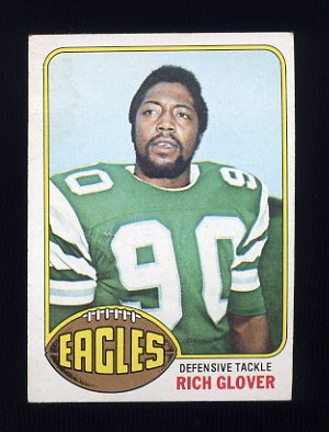 1976 Topps Football #121 Rich Glover RC - Philadelphia Eagles