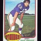 1976 Topps Football #065 Paul Krause - Minnesota Vikings ExMt