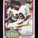1976 Topps Football #054 Nat Moore RC - Miami Dolphins ExMt