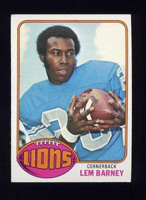1976 Topps Football #043 Lem Barney - Detroit Lions
