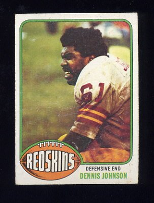 1976 Topps Football #523 Dennis Johnson RC - Washington Redskins