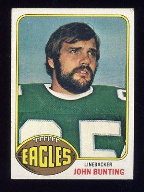 1976 Topps Football #481 John Bunting RC - Philadelphia Eagles