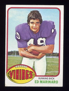 1976 Topps Football #419 Ed Marinaro - Minnesota Vikings EX