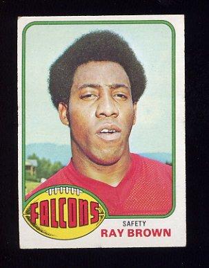1976 Topps Football #307 Ray Brown - Atlanta Falcons