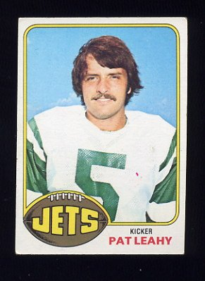 1976 Topps Football #034 Pat Leahy RC - New York Jets