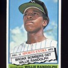 1976 Topps Traded Baseball #592T Willie Randolph - New York Yankees VgEx