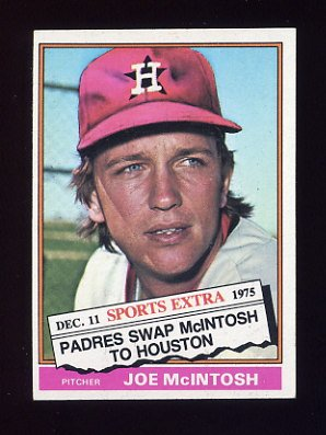 1976 Topps Traded Baseball #497T Joe McIntosh - Houston Astros