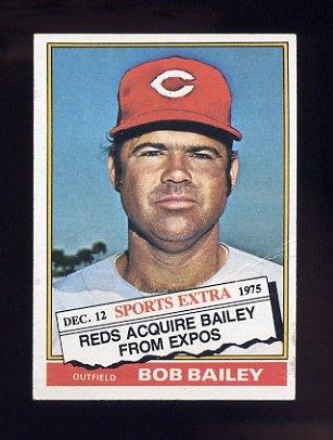 1976 Topps Traded Baseball #338T Bob Bailey - Cincinnati Reds G