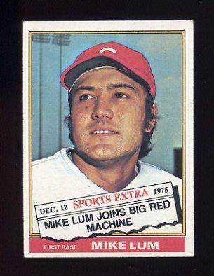 1976 Topps Traded Baseball #208T Mike Lum - Cincinnati Reds