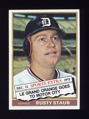 1976 Topps Traded Baseball #120T Rusty Staub - Detroit Tigers NM-M