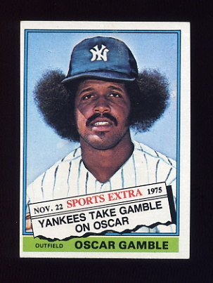 1976 Topps Traded Baseball #074T Oscar Gamble - New York Yankees