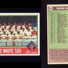 1976 Topps Baseball #656 Chicago White Sox CL / Chuck Tanner Ex