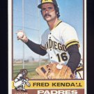 1976 Topps Baseball #639 Fred Kendall - San Diego Padres