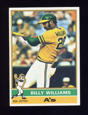 1976 Topps Baseball #525 Billy Williams - Oakland A's