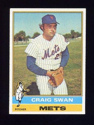 1976 Topps Baseball #494 Craig Swan - New York Mets