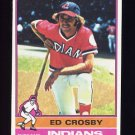 1976 Topps Baseball #457 Ed Crosby - Cleveland Indians