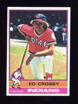 1976 Topps Baseball #457 Ed Crosby - Cleveland Indians