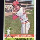 1976 Topps Baseball #399 Luis Melendez - St. Louis Cardinals