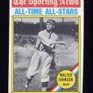 1976 Topps Baseball #349 Walter Johnson ATG - Washington Senators