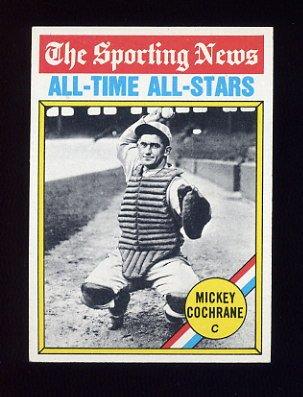 1976 Topps Baseball #348 Mickey Cochrane ATG - Detroit Tigers