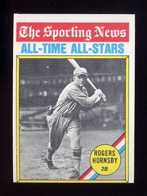 1976 Topps Baseball #342 Rogers Hornsby ATG - St. Louis Browns