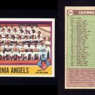 1976 Topps Baseball #304 California Angels CL / Dick Williams NM-M