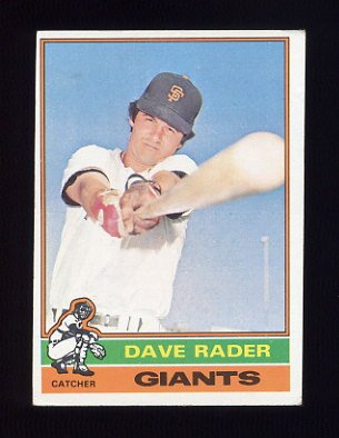 1976 Topps Baseball #054 Dave Rader - San Francisco Giants
