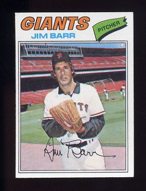 1977 Topps Baseball #609 Jim Barr - San Francisco Giants