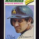 1977 Topps Baseball #606 Steve Braun - Seattle Mariners