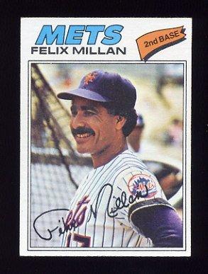 1977 Topps Baseball #605 Felix Millan - New York Mets