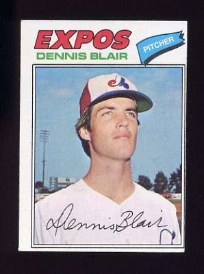 1977 Topps Baseball #593 Dennis Blair - Montreal Expos
