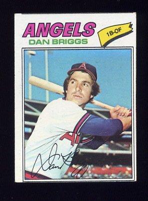 1977 Topps Baseball #592 Dan Briggs RC - California Angels
