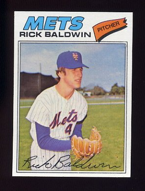 1977 Topps Baseball #587 Rick Baldwin - New York Mets