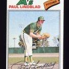 1977 Topps Baseball #583 Paul Lindblad - Oakland A's