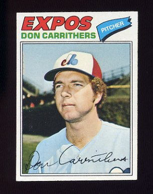 1977 Topps Baseball #579 Don Carrithers - Montreal Expos