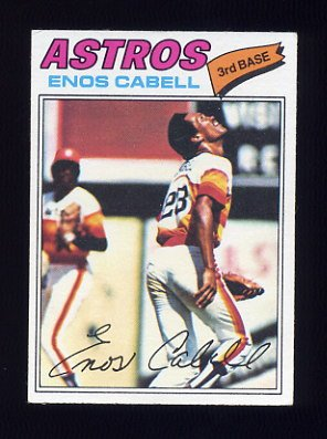 1977 Topps Baseball #567 Enos Cabell - Houston Astros