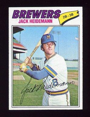 1977 Topps Baseball #553 Jack Heidemann - Milwaukee Brewers