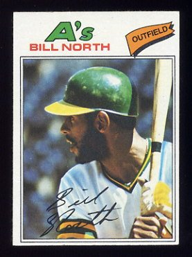 1977 Topps Baseball #551 Bill North - Oakland A's NM-M