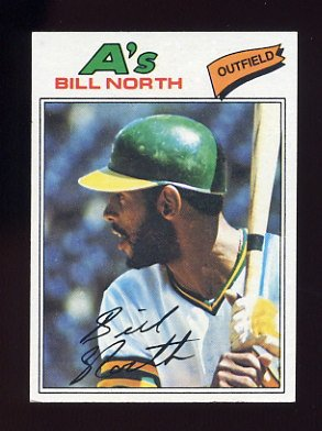 1977 Topps Baseball #551 Bill North - Oakland A's VgEx