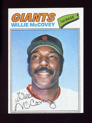 1977 Topps Baseball #547 Willie McCovey - San Francisco Giants NM-M
